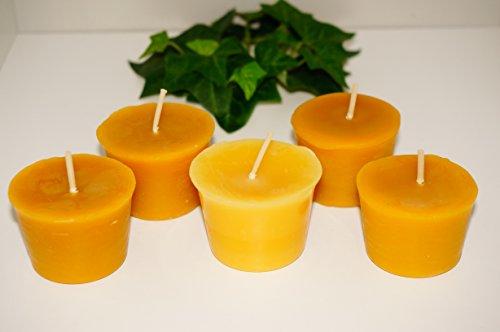 Set de 5 velas de cera de abeja 100 pura de naturra - Velas de miel ...