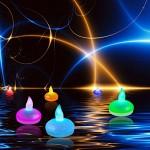12 velas LED flotantes e impermeables Dland con cambio de color