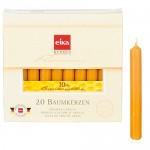 Paquete de 20 velas de cera de abeja de Eika