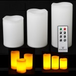 Pack de 3 velas LED impermeables Mooncandles con temporizador