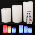 Pack de 3 velas impermeables con color variable y mando