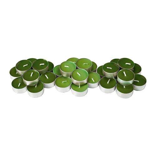 Set de 30 velas Ikea con aroma a manzana verde