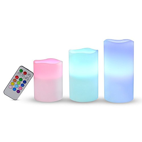 Set de 3 velas LED Ohuhu con mando a distancia