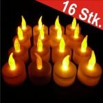 Pack de 16 velas LED de té Profiwelten con efecto parpadeante