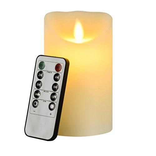 Vela LED decorativa de 12 cm Newcomdigi con mando