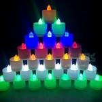 Pack de 24 velas LED Rightwell de 6 colores diferentes