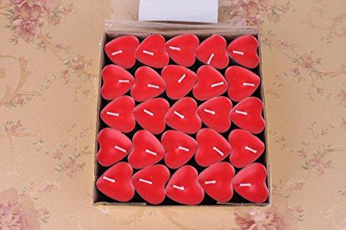 Pack de 50 velas de corazón Rightwell para enamorados