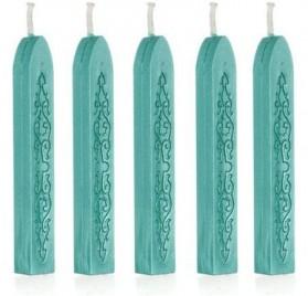 Pack de 5 velas verdes Tenflyer para sellos de lacre
