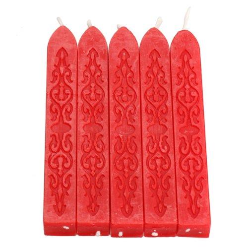 Pack de 5 velas rojas Tenflyer para sellos de lacre