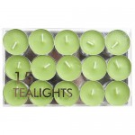 Pack de 15 velas pequeñas Village Candle sin aroma, color verde