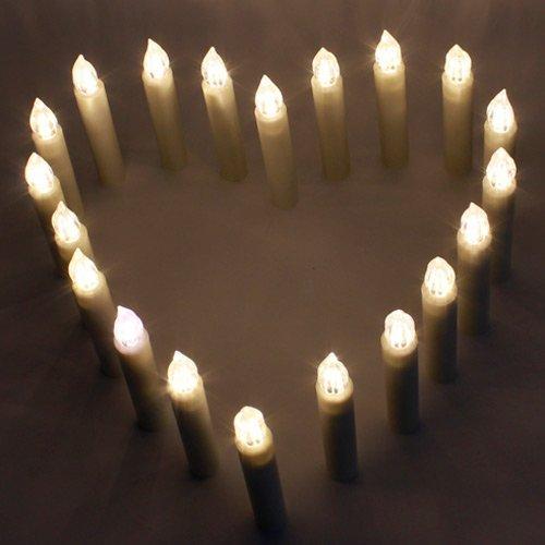 Pack de 20 velas LED Allreli con clip de sujeción y mando