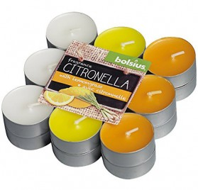 18 velas de citronella Bolsius con aroma a limón