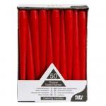 50 velas rojas para candelabro PapStar de 25 cm