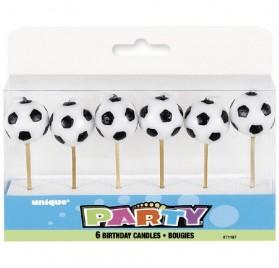6 velas pequeñas de cumpleaños con forma de balón