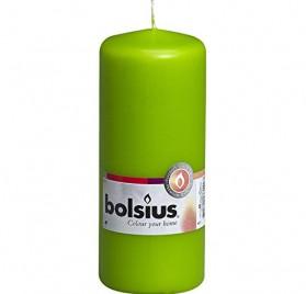 Vela pilar verde de 15cm de Bolsius