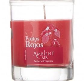Vela tipo vaso de 13 cm con aroma a frutos rojos