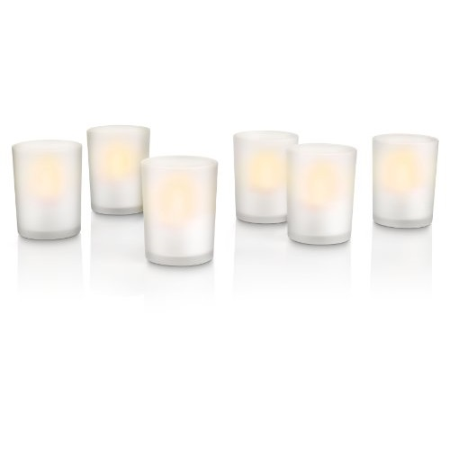 6 velas LED impermeables Philips con base de carga